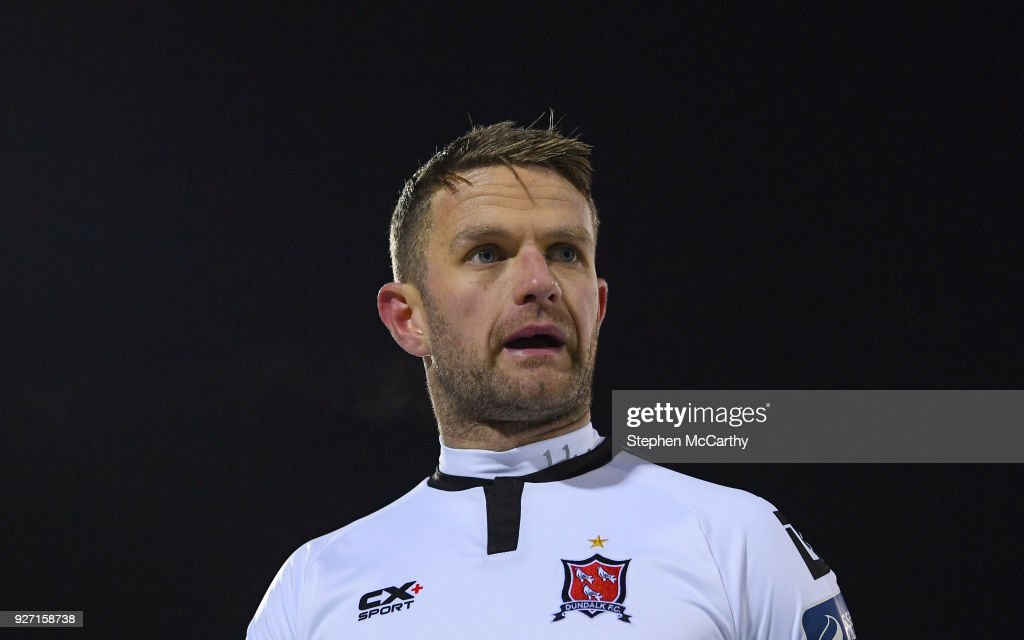 Dundalk , Ireland - 27 February 2018; Dane Massey of Dundalk during the SSE Airtricity League Premier Division match between Dundalk and Limerick at Oriel Park in Dundalk, Co Louth.