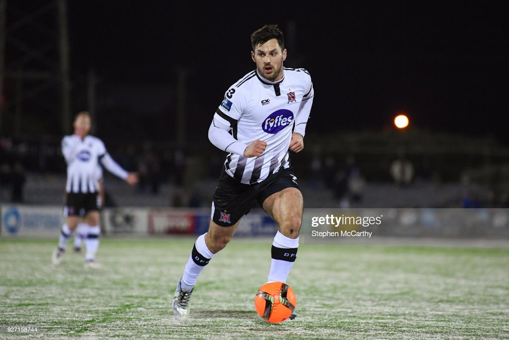 Dundalk , Ireland - 27 February 2018; Michael Duffy of Dundalk during the SSE Airtricity League Premier Division match between Dundalk and Limerick at Oriel Park in Dundalk, Co Louth.