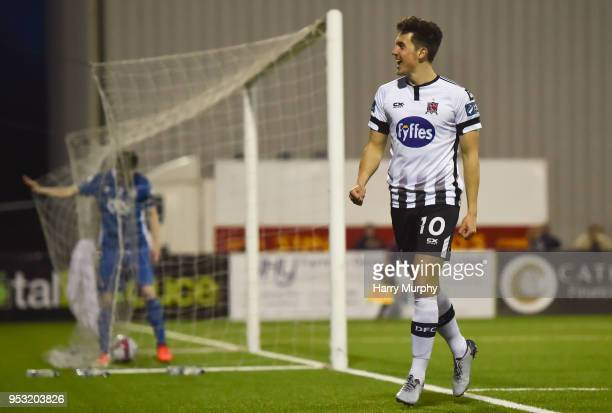 Dundalk Ireland 30 April 2018 Jamie McGrath of Dundalk celebrates after scoring his side's fifth goal during the SSE Airtricity League Premier...