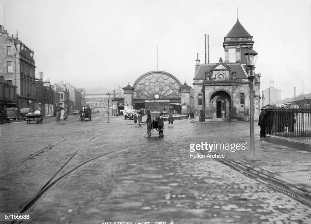 Dundee East railway station Scotland circa 1925