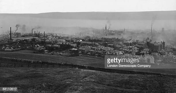Dundee in Scotland as seen from the Law circa 1920