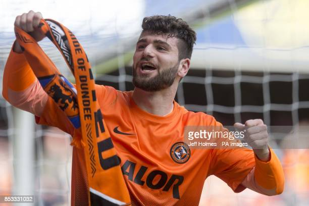 Dundee United's Nadir Ciftci celebrates during the William Hill Scottish Cup Semi Final match at Ibrox Glasgow