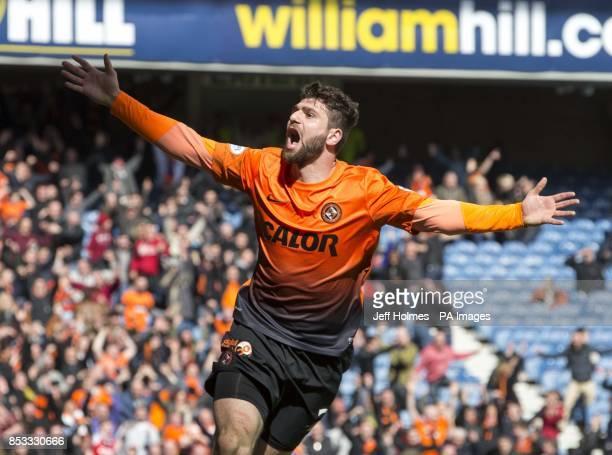 Dundee United's Nadir Ciftci celebrates his goal during the William Hill Scottish Cup Semi Final match at Ibrox Glasgow