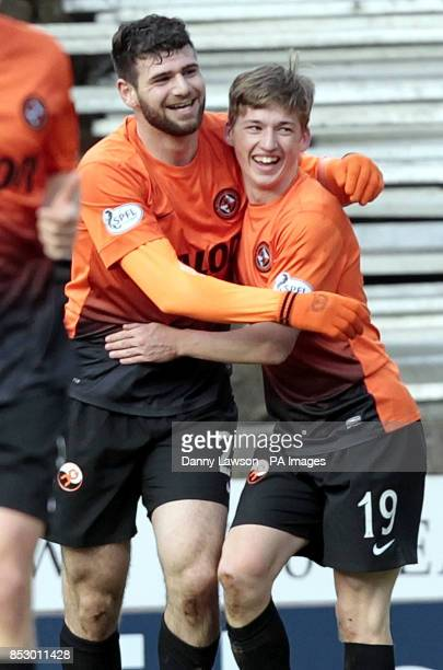Dundee United's Ryan Gauld celebrates his goal with team mate Nadir Ciftci during the Scottish Cup Fifth Round match at Tannadice Park Dundee