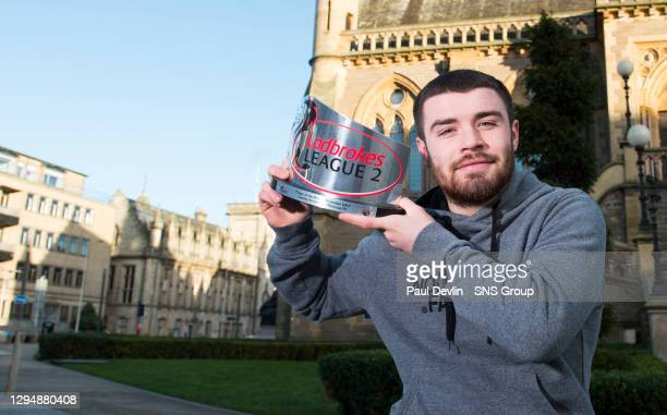 Montrose's Cammy Ballantyne is pictured with the Ladbrokes League Two Player of the Month award for November