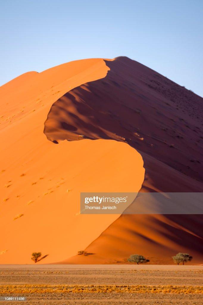 Dune 45 In The Sossusvlei Region Namib Desert Namibnaukluft