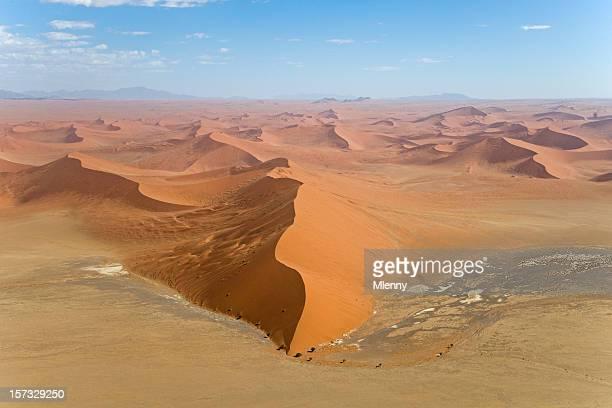 45 Sossusvlei in der Wüste Dünen Sand Dunes (Luftaufnahme