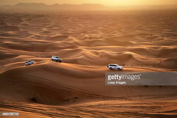 Dune bashing in the Dubai desert