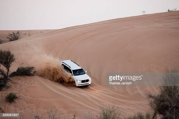 Dune bashing through the desert in Dubai UAE