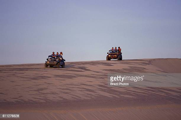 Dune buggy sightseeing at Jericoacoara National Park in Ceara State northeastern Brazil