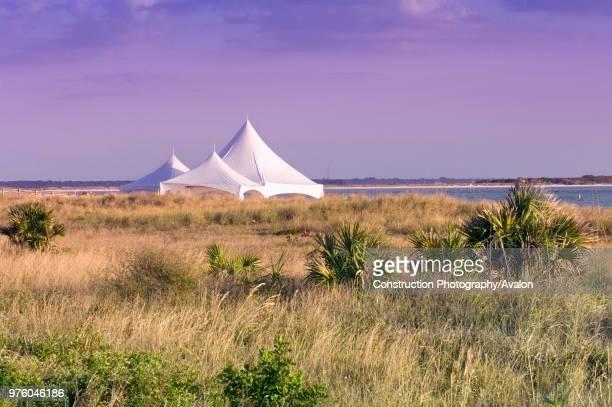 Dunedin Florida Wedding tent on the beach at Honeymoon Island State Park USA