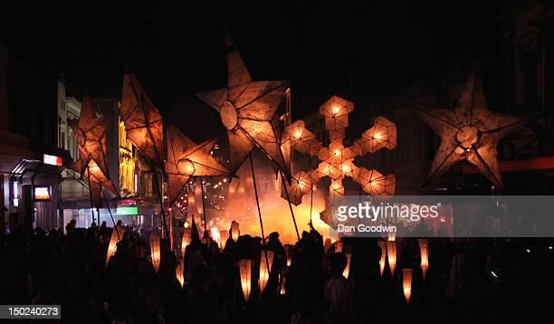 dunedin midwinter carnival lantern parade - dunedin new zealand stock pictures, royalty-free photos & images