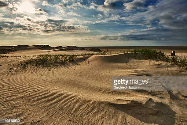 dunes after rain - sankt peter ording stock-fotos und bilder