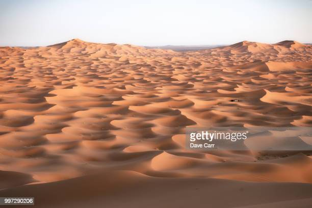dunes at dusk - merzouga stock pictures, royalty-free photos & images