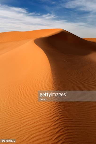 dunes at sunset - algeria stock pictures, royalty-free photos & images