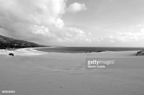 Dunes on the beach in Tarifa Cadiz