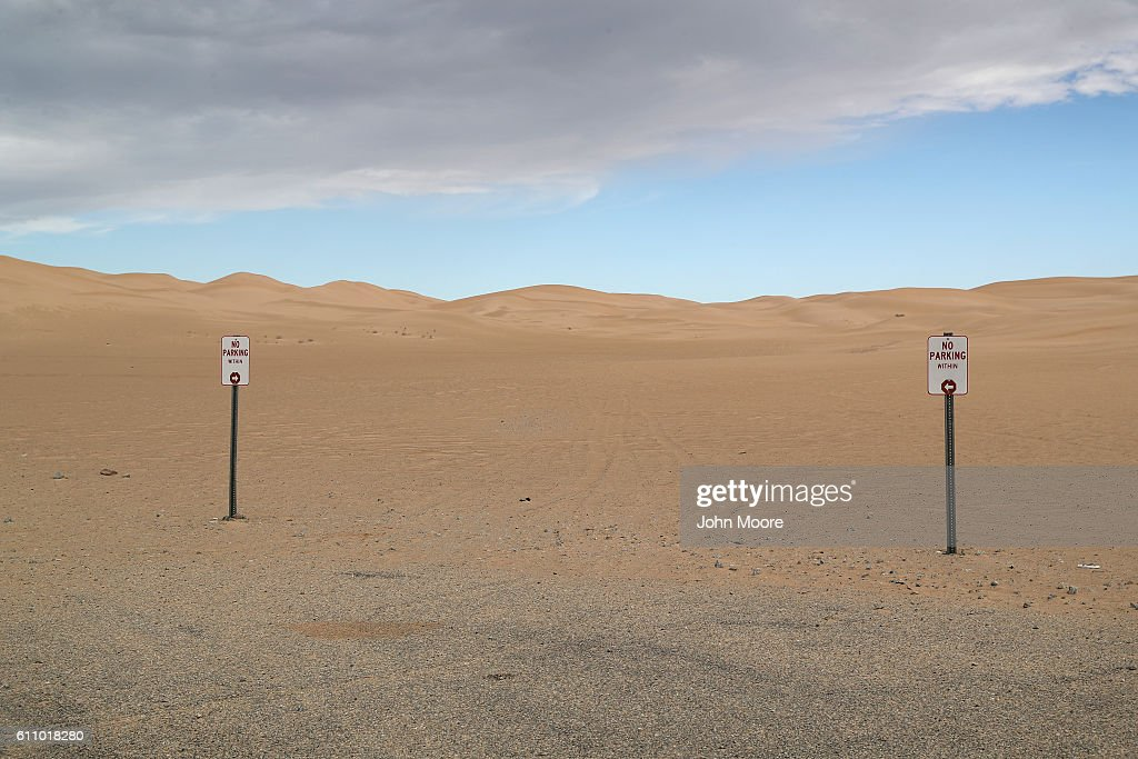 Dunes stretch into the distance near the U.S.-Mexico border on September 27, 2016 in the Imperial Sand Dunes recreation area, California. The border stretches almost 2,000 miles between Mexico and the United States. Border security and immigration issues have become major issues in the U.S. Presidential campaign.
