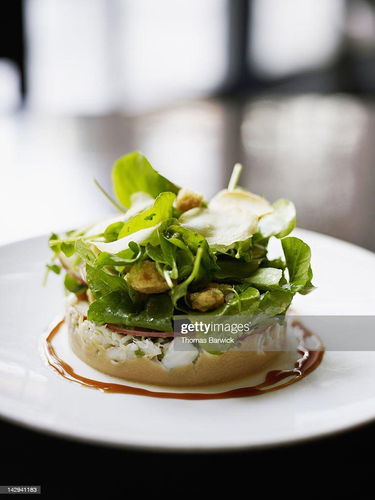 Dungeness crab salad : Stock Photo