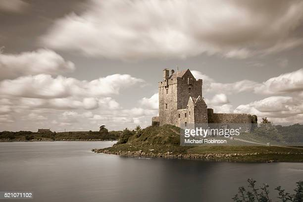 dunguaire castle in galway - michael robinson stock pictures, royalty-free photos & images