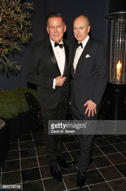 dunhill CEO Andrew Maag and GQ editor Dylan Jones wearing dunhill attend the dunhill and Dylan Jones preBAFTA dinner and cocktail reception...