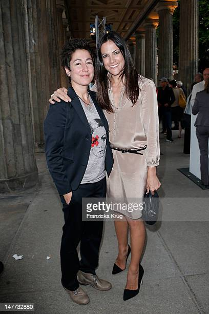 Dunja Hayali and Bettina Zimmermann attend ZDF Summer Reception on July 2 2012 in Berlin Germany