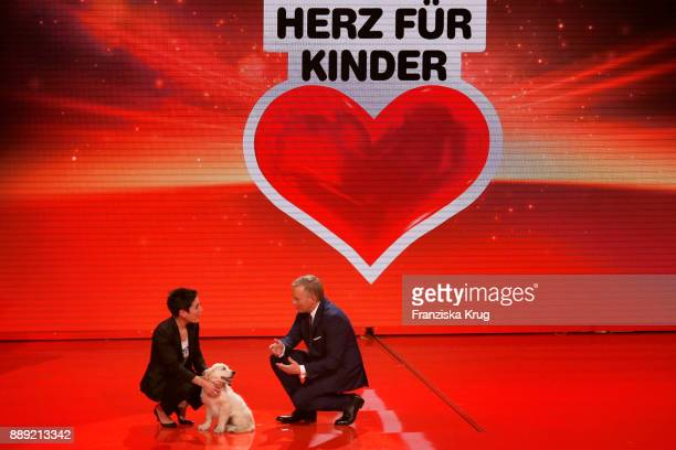 Dunja Hayali and Johannes B Kerner during the Ein Herz Fuer Kinder Gala show at Studio Berlin Adlershof on December 9 2017 in Berlin Germany