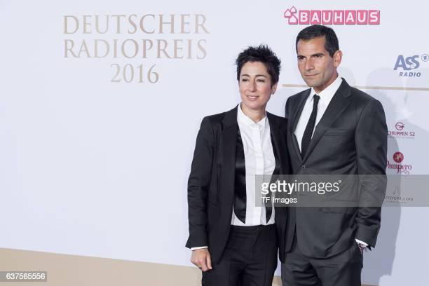 Dunja Hayali and Mitri Sirin attend the Deutscher Radiopreis 2016 on October 6 2016 in Hamburg Germany