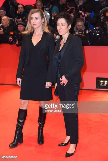 Dunja Hayali and Pamela Schobess attend the 'Django' Premiere - 67th Berlinale International Film Festival on February 9, 2017 in Berlin, Germany.