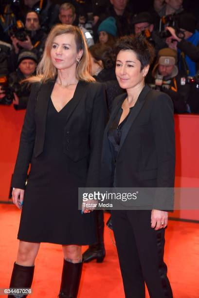 Dunja Hayali and Pamela Schobess attend the 'Django' Premiere during the 67th Berlinale International Film Festival on February 9, 2017 in Berlin,...