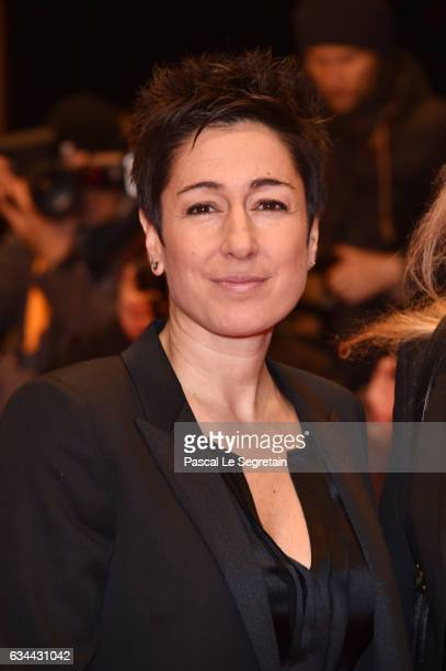 Dunja Hayali attends the 'Django' premiere during the 67th Berlinale International Film Festival Berlin at Berlinale Palace on February 9, 2017 in...
