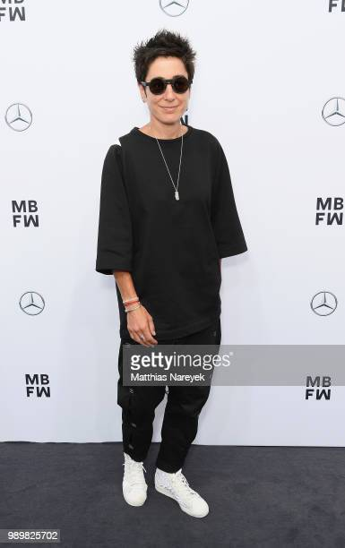 Dunja Hayali attends the Guido Maria Kretschmer show during the Berlin Fashion Week Spring/Summer 2019 at ewerk on July 2 2018 in Berlin Germany