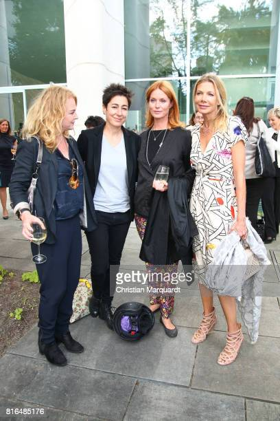 Dunja Hayali, Esther Schweins and Ursula Karven attend the '#weiles2017ist' Reception And Closing Ceremony at Bundeskanzleramt on July 17, 2017 in...