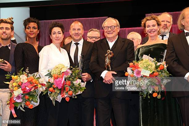 Dunja Hayali Heino Ferch Klaus Maria Brandauer and Margarita Broich during the Hessian Film and Cinema Award at Alte Oper on October 21 2016 in...
