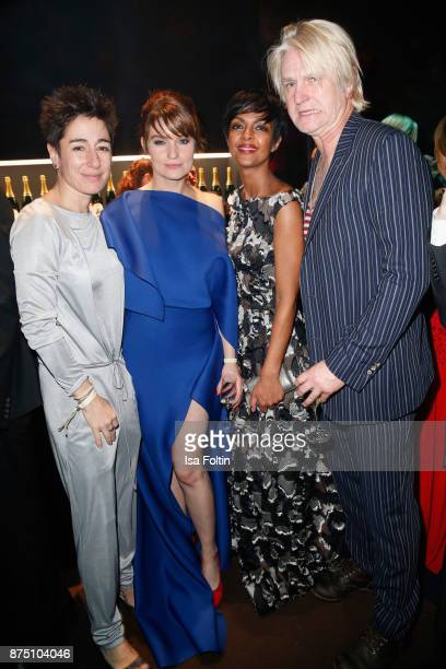 Dunja Hayali Ina Paule Klink Dennenesch Zoude and Detlev Buck poses at the Bambi Awards 2017 party at Atrium Tower on November 16 2017 in Berlin...