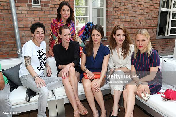 Dunja Hayali Nadine Warmuth Simone Hanselmann Birthe Wolter Julia Malik and Nova Meierhenrich attend the 'Gala' fashion brunch during the...