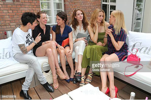 Dunja Hayali Simone Hanselmann Birthe Wolter Julia Malik Eva Padberg and Nova Meierhenrich attend the 'Gala' fashion brunch during the MercedesBenz...