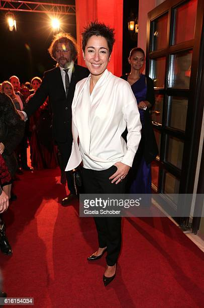 Dunja Hayali wearing Porsche Design during the Hessian Film and Cinema Award at Alte Oper on October 21, 2016 in Frankfurt am Main, Germany.