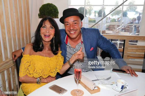 Dunja Rajter and Lou Bega during the CHIO 2019 Media Night on July 16, 2019 in Aachen, Germany.