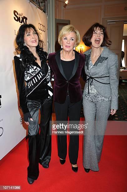 Dunja Rajter Liz Mohn and actress Anja Kruse attends the Christina Duxa Couture Ladies Lunch at Hotel Bayerischer Hof on November 25 2010 in Munich...