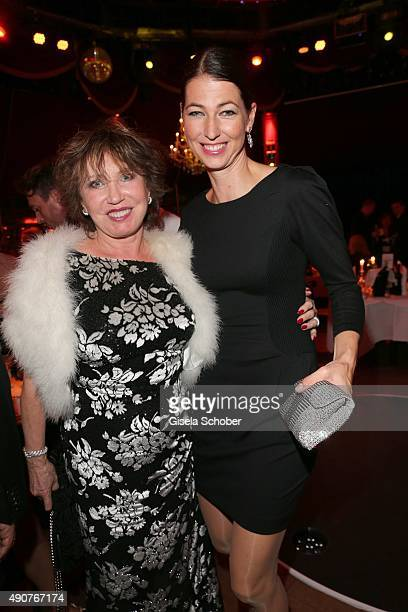 Dunja Siegel and her daughter Marcella Siegel during Ralph Siegel's 70th birthday party at Schuhbeck's Teatro on September 30 2015 in Munich Germany