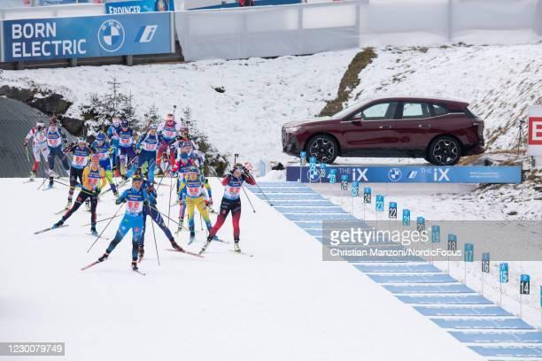 Dunja Zdouc of Austria, Lisa Vittozzi of Italy, Maren Hammerschmidt of Germany, Evgeniya Pavlova of Russia, Darya Blashko of Ukarine, Johanna...