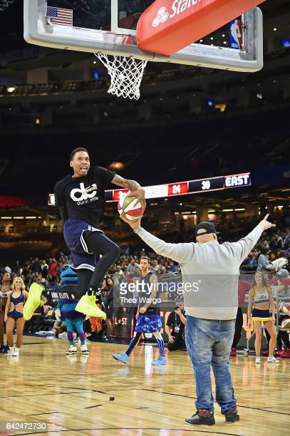 Dunk Elite perform the 2017 NBA AllStar Celebrity Game at MercedesBenz Superdome on February 17 2017 in New Orleans Louisiana