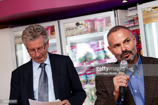 Dunkin' Brands and President of Dunkin' Donuts Nigel Travis and Senior Vice President and Brand Officer, Baskin-Robbins US and Canada Bill Mitchell...