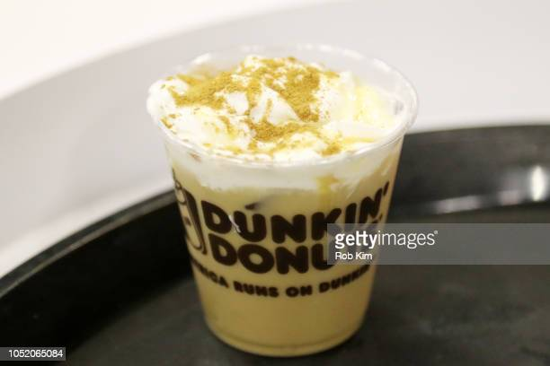 Dunkin Donuts beverages are served during the Food Network Cooking Channel New York City Wine Food Festival Presented by Capital One Grand Tasting...