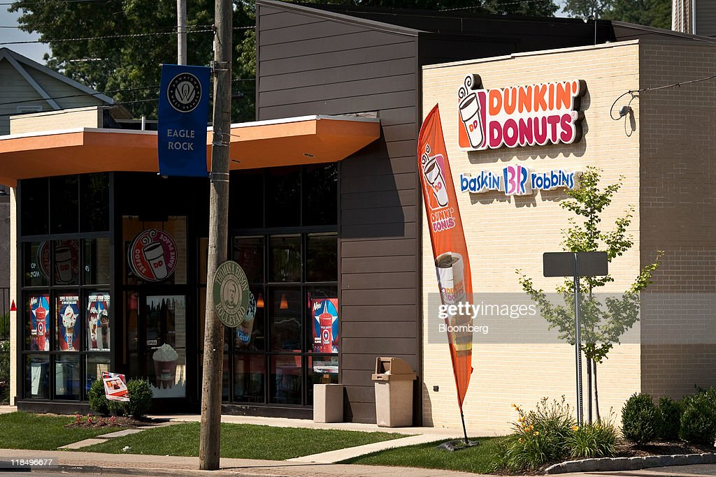 Dunkin' Donuts Inc  signage store stands in West Orange, New