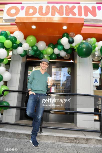 Dunkin' rebrands to O'Dunkin' for the day and celebrates with Joey McIntyre serving free Irish Creme Coffee and Lattes to guests on March 6 2019 in...