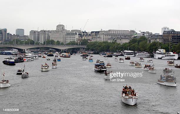 Dunkirk small ships take part in the Diamond Jubilee River Thames pageant on June 3 2012 in London England For only the second time in its history...