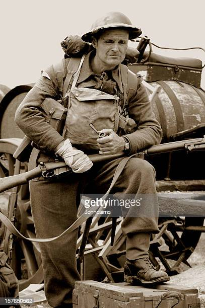 dunkirk soldier. - dunkirk evacuation stock pictures, royalty-free photos & images