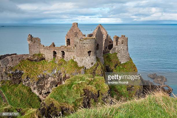 CONTENT] Dunluce Castle is a nowruined medieval castle in Northern Ireland It is located on the edge of a basalt outcropping in County Antrim