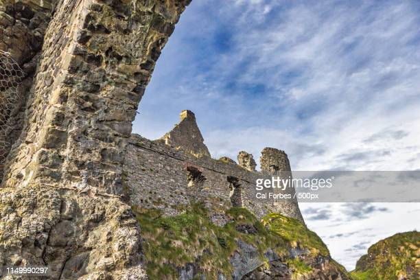 dunluce castle - northern ireland - dunluce castle stock photos and pictures